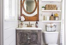 Banheiros pequenos / Inspiração de banheiros pequenos, dicas para decorar banheiro de apartamento, organização de banheiros pequenos