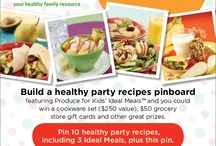 Healthy Party Ideas With Produce For Kids / by Cynthia Conley