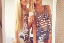 Girls / #girls #chicas #modelos #rubias #morenas #castañas #skatergirl #surfergirl #