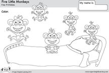 Nursery Rhythm-5 little monkey