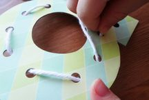 alphabet lacing cards DIY