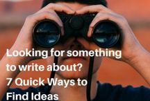 Inspiration and Ideas / All about finding ideas for stories and other writing