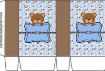 Baby shower ositos / Niño azul-café