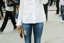 Basic-Not Basic Blouse and Jeans / by Jacqui Lee
