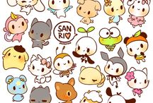 Sanrio / There are tons of cute characters... Which is your fav? Theres so much too choose from... I CHOOSE THEM ALL>w<