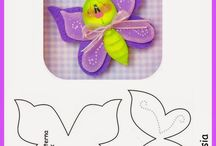 sablon lepke bogár / template butterfly beetle