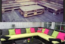 Idéer för hemmet / I make furniture of pallets, concrete and other material that people usually throw away! Re-using is fun!