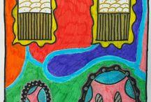 Colorful Village / Redecoración de las fachadas de El Palmar de Troya, inspirados en las ideas de Hundertwasser, consiguiendo una estética más colorida, creativa y divertida de nuestro pueblo. Alumnado de 2º ESO.