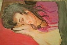 ILUSTRACIONES CON CERAS MANLEY / Ilustraciones realizadas con ceras manley