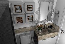 Banheiros e Lavabos / Projetos de banheiros e lavabos