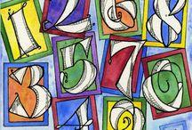 kalligrafie cijfers