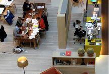 Coworking (exemples) / Exemples d'espaces de coworking et Infographies