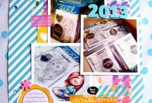 Scrapbooking/SMASHing / Scrapbook pages, SMASH books, and Project Life pages using Some Odd Girl stamps