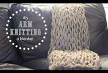 arm and finger knit