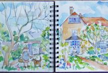 Sketchbook / Some of the drawings, paintings & inspiration from Chalk Artists Sketchbooks