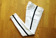side stripe pants / by tweet aux