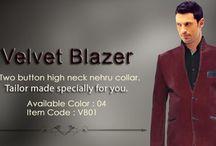Velvet mens blazer