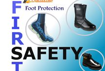 Feet Protection / The human foot is rigid enough to support the weight of your entire body, and yet flexible enough to allow you to run, dance, play sports, and to take you anywhere you want to go. Without your feet and toes, your ability to work at your job would be greatly reduced. Protector Fire & Safety is a leading feet Protection Dealer/Suppliers/Manufacture in Ahmedabad, Gujarat, India.