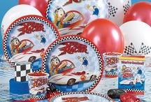 Speedracer / Speedracer themed birthday party ideas & cakes.