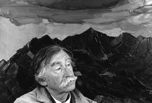 "Kyffin Williams / Sir John ""Kyffin"" Williams, KBE, RA (9 May 1918 – 1 September 2006) was a Welsh landscape painter who lived at Pwllfanogl, Llanfairpwll on the Island of Anglesey. Williams is widely regarded as the defining artist of Wales during the 20th century."