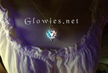 Passion Pink and Blue Glow in the Dark Jewelry