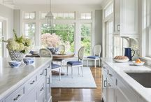 Baby blue kitchens