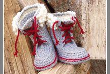 tricot  pantoufle