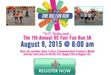 OC Fair Fun Run 5K / August 9th, 2015 @8:00 AM Race Fee Includes: A complimentary ticket for one-time entry into the OC Fair, a commemorative medal,a souvenir timing chip, and a race t-shirt!  / by OC Marathon and Half Marathon