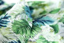 Foulard imprimé fleuri exotique