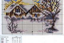 cross stitch landscape