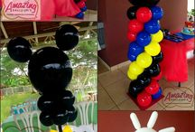 Mickey themed balloons