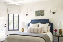 Guest Room Design / Black windows with white + gold accents. / by Courtney Anderton