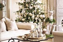White, Frosty French Christmas Decor