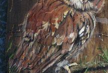 Vogels op hout schilderen