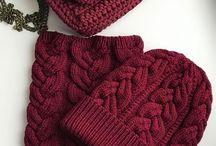 Gorro e gola de tricot