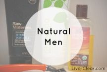 Natural Men / Personal care products aren't just for women!  Natural shampoo, shaving, moisturizers, lotions, deodorant and more... toxin free.
