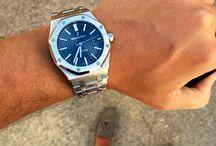 Blue dials
