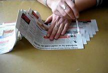 pletenie papier