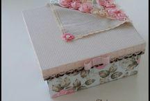 caixa decorada floral