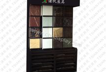 fashionable design stone tile display rack for showroom