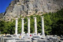 priene / Priene antik kenti. Söke Aydın/Türkiye