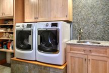 Laundry Room / What makes laundry fun? Nothing! But at least you can get a little excited about doing laundry with stylish Candlelight Laundry room!