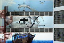 MURALES XXL / Grandes murales en fachadas e instalaciones pintados a mano.