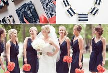 Navy and Coral