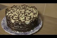 медовый торт в кружева