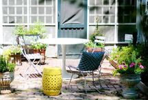 Kiss My Casa // Patio + Yard / Ideas and inspiration for the yard and patio of Casa de Crap. http://www.kissmycasa.com
