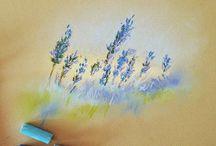 soft pastels art