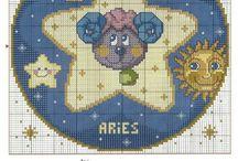 Punto croce zodiaco