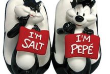 Novelty salt and pepper shakers / by Rubie Thomases
