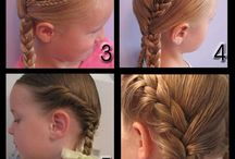 lil girl hair style ideas / by Carmen Torres-Saldaña